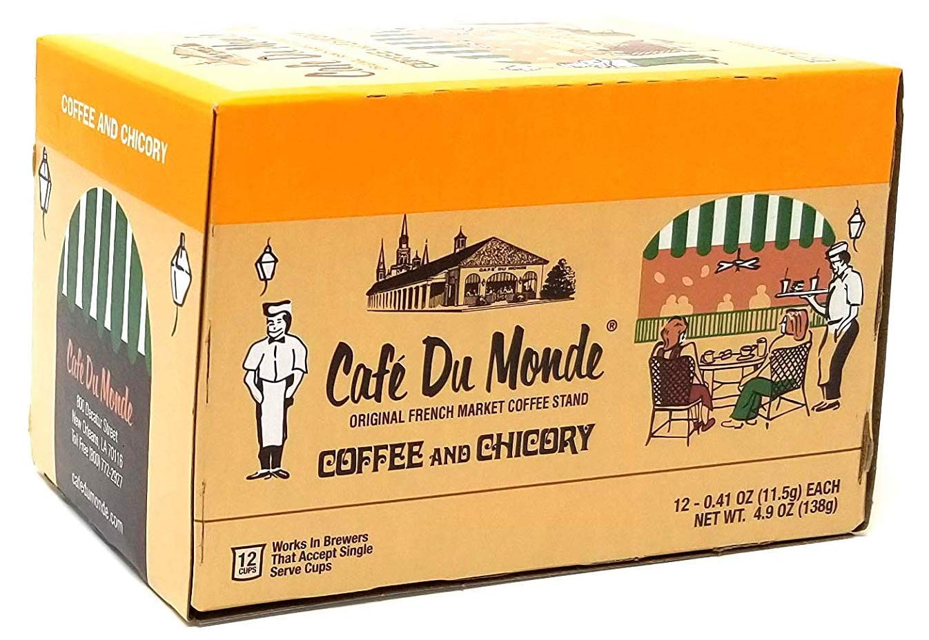 Cafe Du Monde Coffee and Chicory Single-Serve Cup Pods