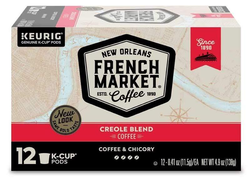 French Market Medium Dark Roast and Chicory Single Serve Cups Coffee